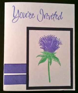Thistle Invitation