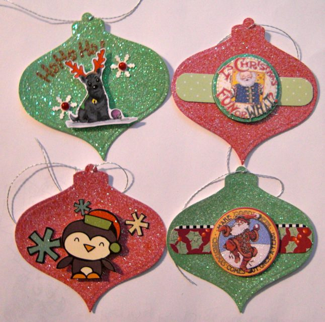 Gift Tags 3 – Glitter Ornaments