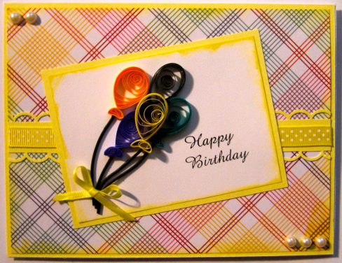 Quilled Birthday Balloons