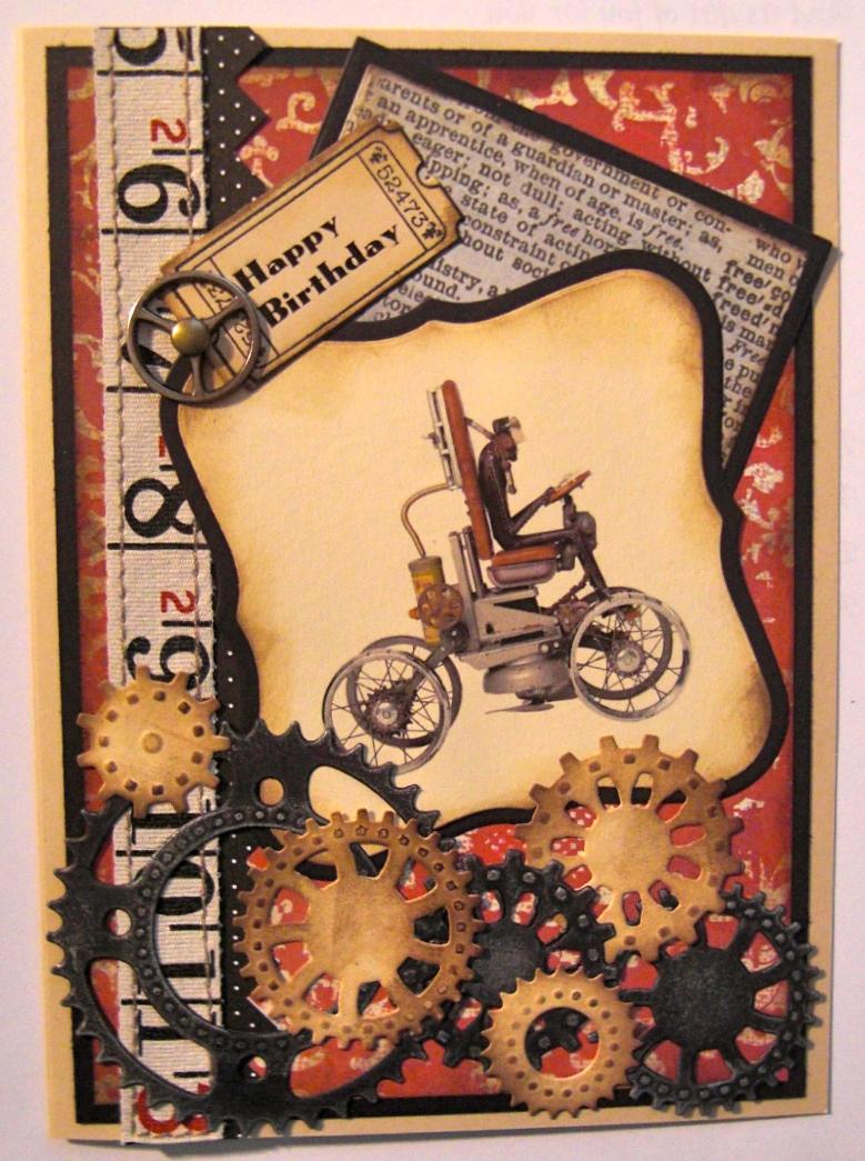 Paper Whims Steampunk Birthday – Steampunk Birthday Card
