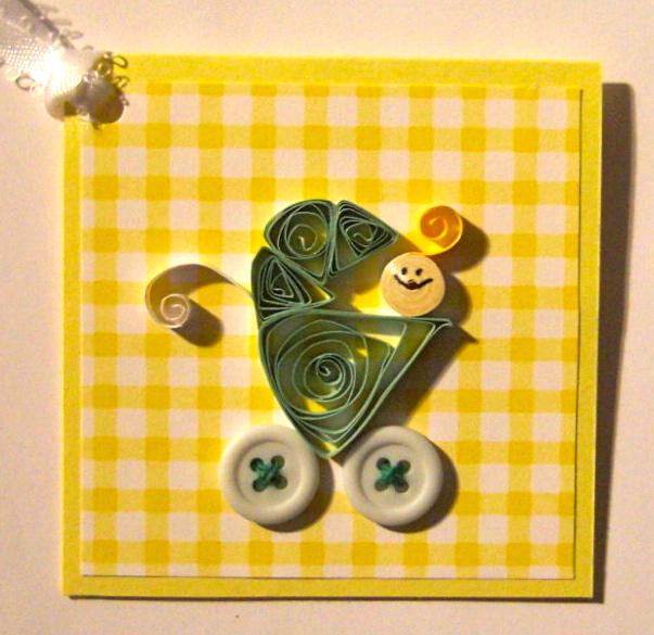 Baby Carriage Mini Card