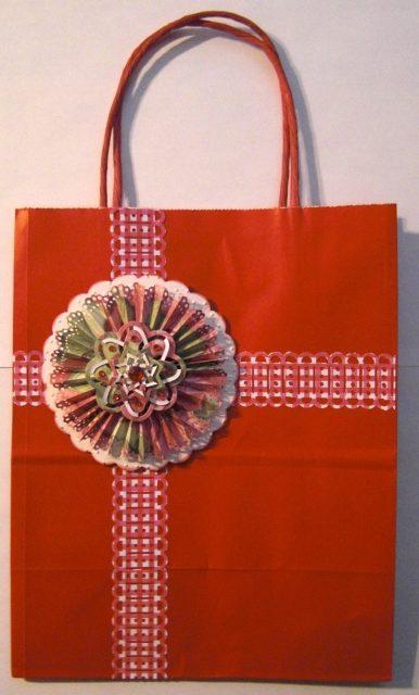 Christmas Rosette Gift Bag