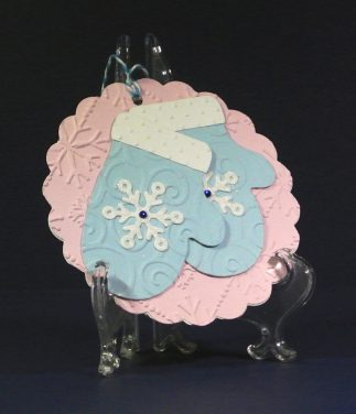 Snowflake Mittens Gift Tag