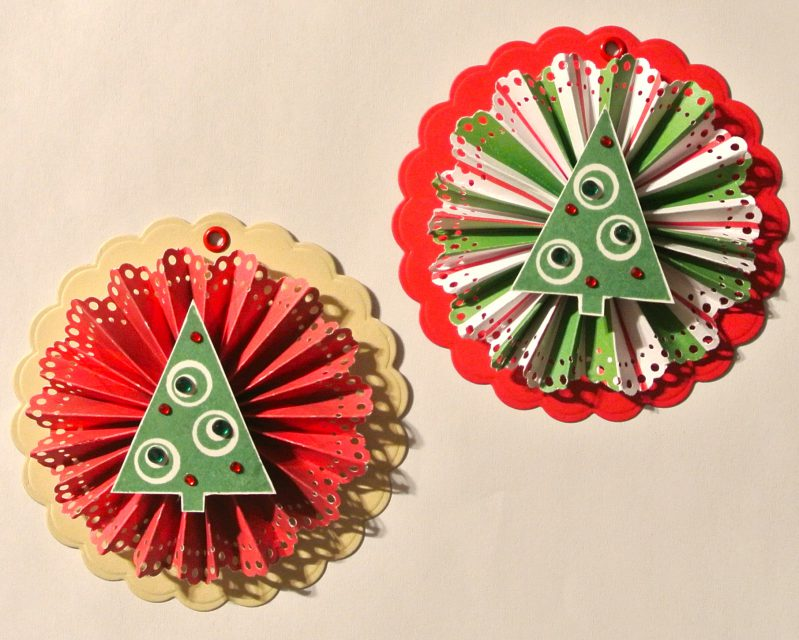 Christmas Tree Rosette Tags
