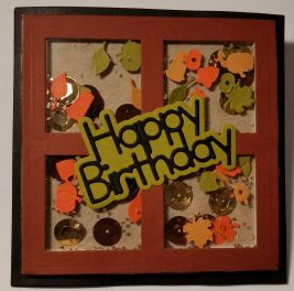 Birthday Fall Shaker Pocket