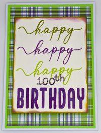 Triple Happy 100th Birthday