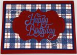 Plaid Happy Birthday