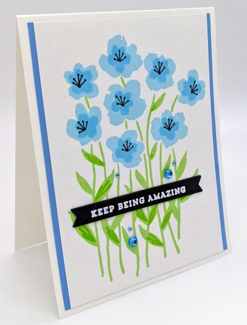 Encouraging Blue Wildflowers