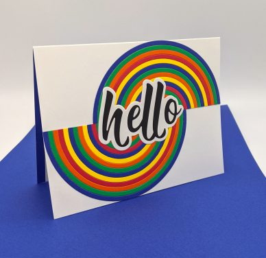 Half Circle Rainbow Hello