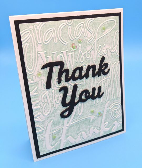 Thank You – Embossed